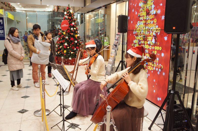 音楽を楽しみながらクリスマスのお買い物、船橋東武DEクリスマスパーティー